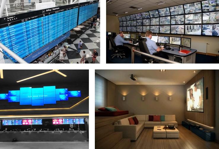 video wall en varios sectores